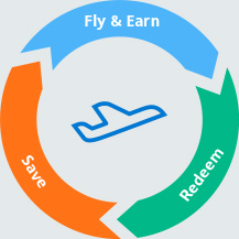 graphic showing fly and ear, redeem and save flowing into each other.